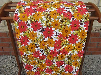 Eiderdown Vintage Retro Bed Cover /quilt - Rare Collectable Orange Red Shades