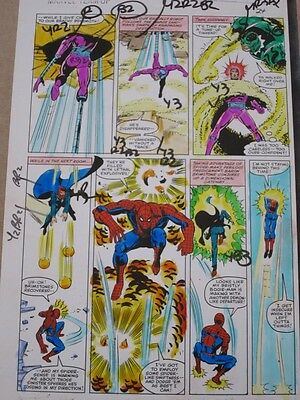 Marvel Team-Up #99 Original Hand-Painted Color Guide Art Page 24 Spider-Man