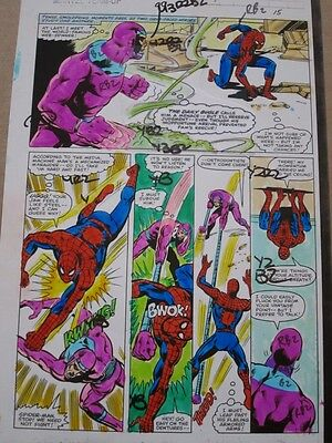 Marvel Team-Up #99 Original Hand-Painted Color Guide Art Page 15 Spider-Man