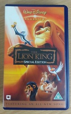 The Lion King - VHS - Special Edition - Walt Disney Video - NEW