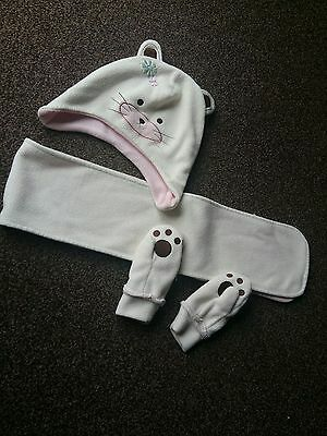 hat, scarf and mittens set age 1-2 years