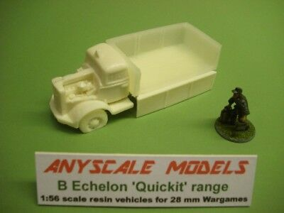 wargame vehicle.  WW2 German Opel Blitz wreck 1/56 scale kit for 28mm (829)