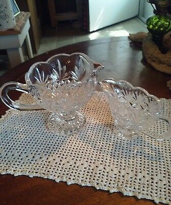 Antique 2 Piece Elegant, Nice Heavy And Thick Clear Cut Glass Gravy Bowls