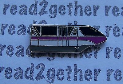 Disney Pin WDW Cast Lanyard Series 4 Monorail With Hidden Mickey Purple