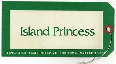 P&O ISLAND PRINCESS vintage luggage tag Ӝ