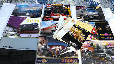 17 POUND LOT OF MISCELLANEOUS  MTH CATALOGS, mint and unused, 2000 - 2017