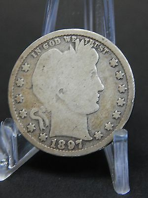1897 25C Barber Quarter - Nice Circulated Coin