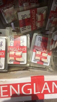 20 Flashing Magnetic England Flags