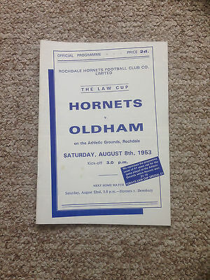 1994/95 Rochdale Hornets v Oldham - Law Cup Game - Friendly