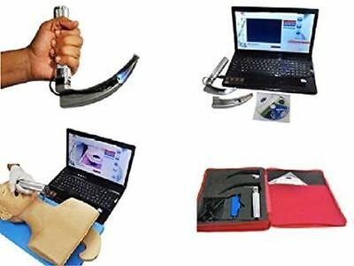 Video Laryngoscope Set USB With 14 PCS Blades with camera Portable kit, USB Rech