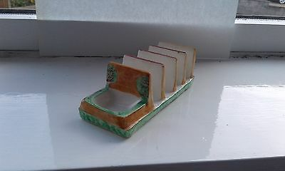 A vintage Westminster hanley pottery toast rack, cottage ware good cond