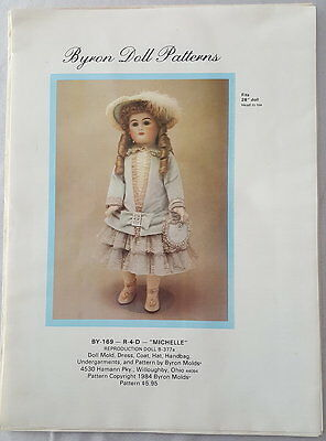 "Schnittmuster/Zubehör Byron Doll Patterns BY-169- R-4-D ""Michelle"" 1984"