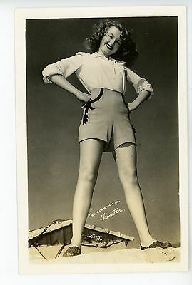 """Susanna Foster"" Vintage Actress RPPC Pretty Woman Girlie Photo ca. 1940s"