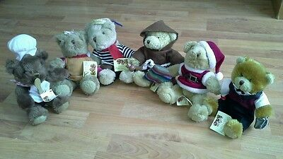 Teddys Bears from The Teddy Bear Collection x 6 All with Tags