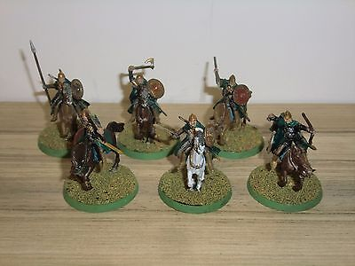 Warhammer LOTR Riders of Rohan x 6 - Painted and Based