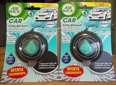 Nenuco  Air Wick  Car Air Freshener x 2  Coche Ambientadores En Aerosol  60 Days