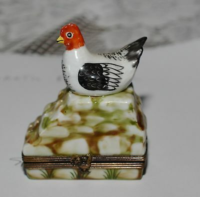 Limoges Hand Painted Porcelain Trinket Pill Box Hinged