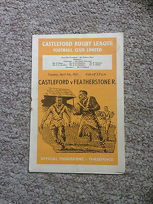 1960/61 Castleford v Featherstone Rovers