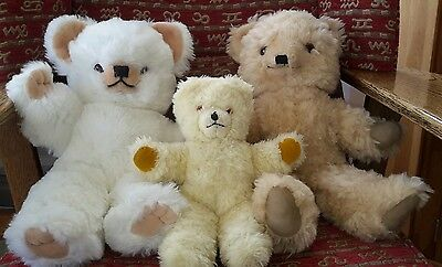 Deans teddy bears 1960/70's.   Mummy, Daddy and Baby Bear !