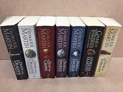 Complete Set Of 7 George Rr Martin - A Game Of Thrones Series Books