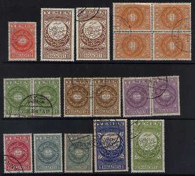 SoD Yemen 1930/31 mainly used selection to 20b inc multiples Cat £46+