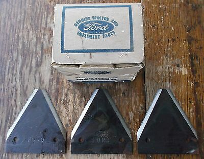 Vintage FORD TRACTOR IMPLEMENT-Serrated Knife blades-NOS in orig Box-Hay Cutter