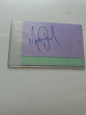 Michael Jackson ORIGINAL HAND SIGNED index card RIP King of Pop