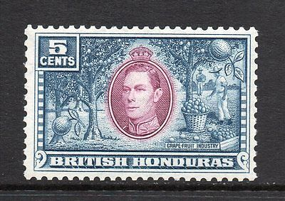 British Honduras - 1938-47, 5c Mauve & Dull Blue (sg154) Mint