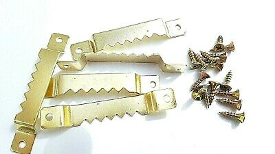 Picture Sawtooth Hanger 63mm Brassed With Screws Canvas Frame Hook Multi Listing