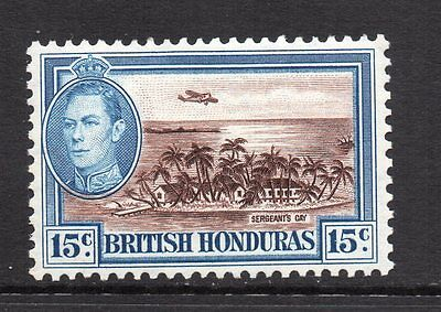 British Honduras - 1938, 15c Brown & Light Blue (sg156) Mint