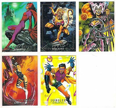 1992 MARVEL MASTERPIECES  LOST CARDS CHASE INSERT SET (5)  LM-1 to LM-5