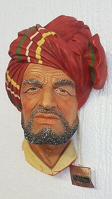 Bossons ABDHUL Chalkware Character Head Mask Vintage Wall Plaque