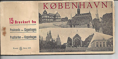Postcard Booklet - Copenhagen - Unfortunately some cards are missing