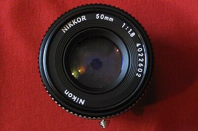 Nikon 50mm 1.8 E lens with Fuji X Adaptor