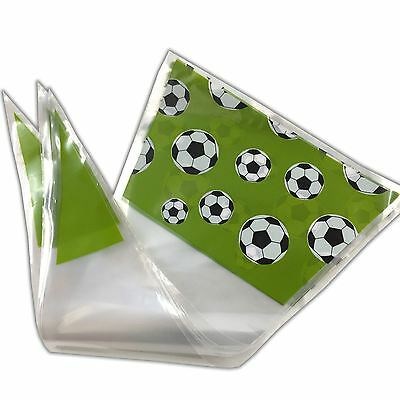 Football Theme Cone Cello Bags Sweet Printed Sweet Display Party Bag