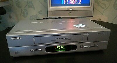 PHILIPS video player VCR with scart cable / slim / NO REMOTE