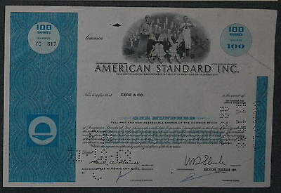 American Standard Inc. 1968 100 Shares .