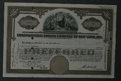 Consolidated Edison Company of New York, Inc. 1937 4 Shares .