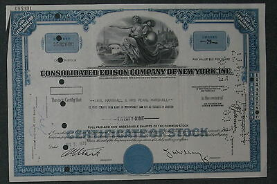 Consolidated Edison Company of New York, Inc. 1970 29 Shares .