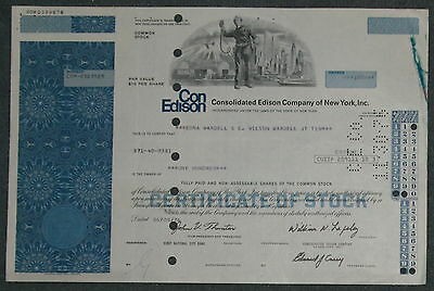 Consolidated Edison Company of New York, Inc. 1976 100 Shares blau .