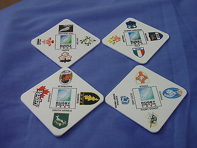 Rugby World Cup 1995 - Set Of Four Drink Mats
