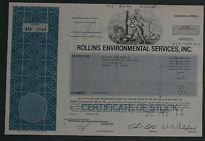Rollins Environmental Services, Inc.1982 41 Shares .