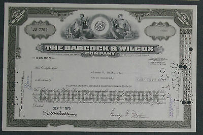 The Babcock & Wilcox Company 1975 500 Shares .