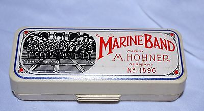Vintage Marine Band HOHNER No 1896 HARMONICA in box  Made in Germany  G