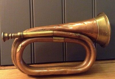 Vintage 1939 Copper / Brass Bugle by George Potter Aldershot.
