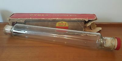 vintage glass pyrex glass rolling pin bake off cooking baking kitchenalia