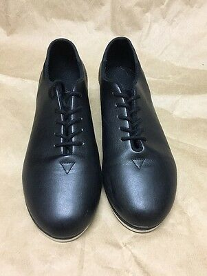 Leo's Youth  Black Jazz TAP Dance SHOES ~Size 1 M~ Recital Performance
