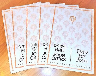 Daryl Hall & John Oates / Tears For Fears 2017 Tour Show Posters - 5 Total
