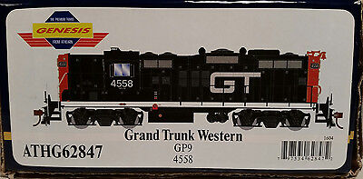 Athearn Genesis HO GP9 - Grand Trunk & Central Vermont GTW 4558 - DCC READY