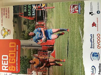 Sheffield Eagles vs Hull KR Programme 25/06/17